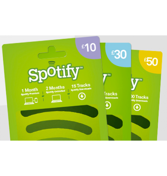 Spotify Gift Card - £50