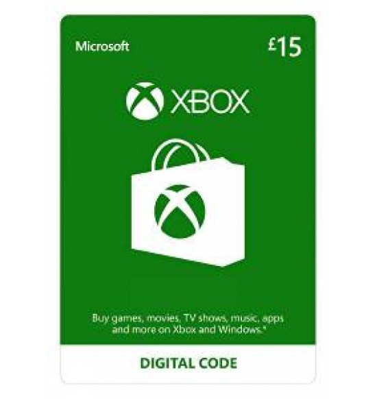 Microsoft XBOX Live Wallet Top Up £15 - UK Account