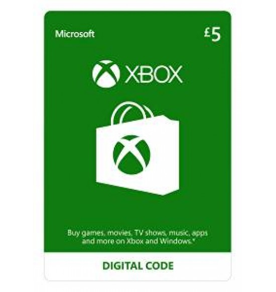Microsoft XBOX Live Wallet Top Up £5 - UK Account
