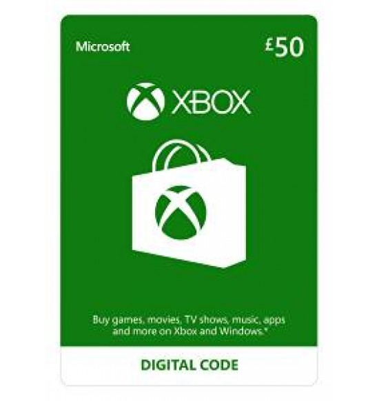 Microsoft XBOX Live Wallet Top Up £50 - UK Account